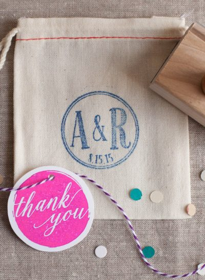 DIY: Stamp a Muslin Bag