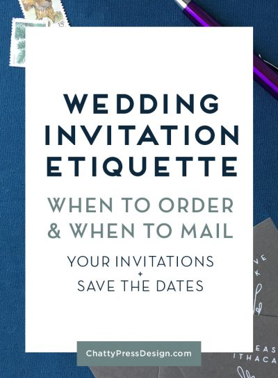 When to Send Your Wedding Invitations  & When to Order Them!