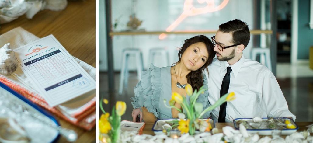 Portland Maine Oyster shop wedding ideas.