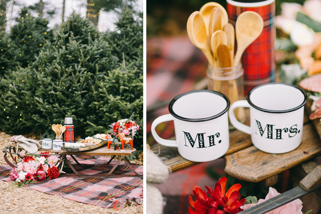 custom wedding mugs inspired by Scandinavian design, custom designer for wedding decor and day of stationery