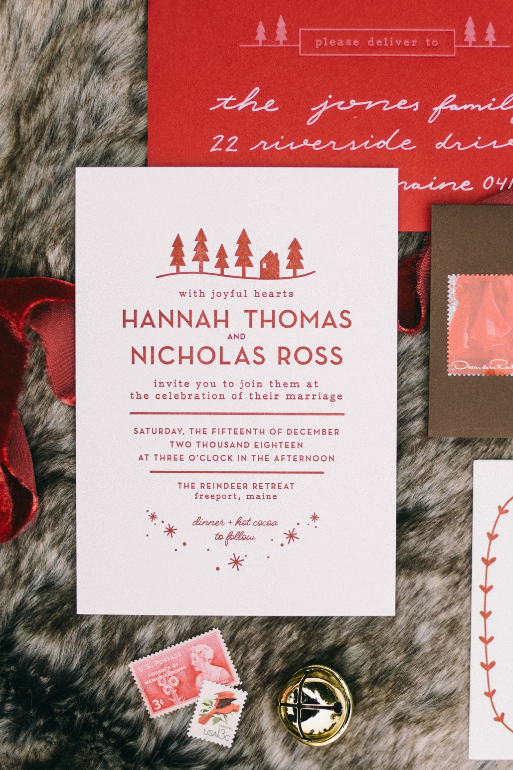 letterpress printed one of a kind wedding invitations, custom designed and illustrated just for your wedding theme