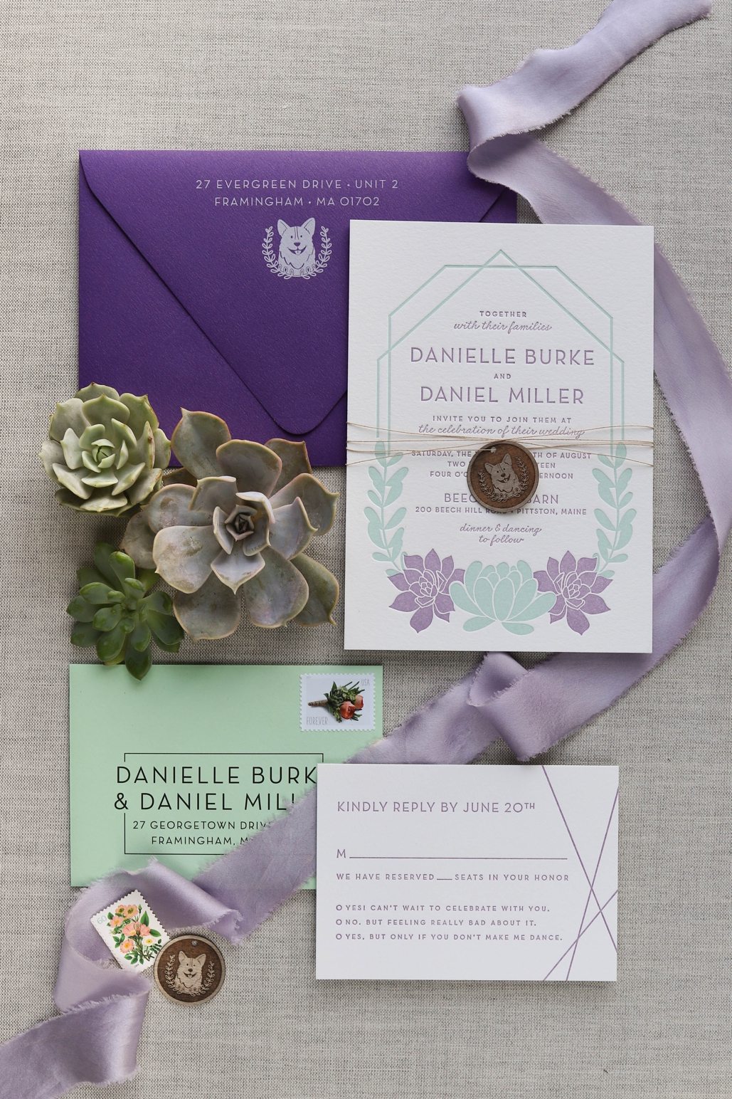succulent wedding invitations, modern terrarium wedding invitations, geometric design inspiration for wedding invites