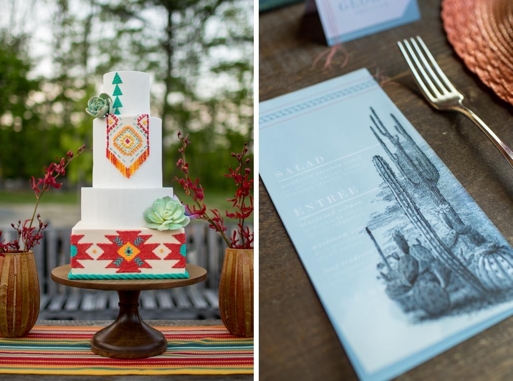 vellum overlay wedding menus, cactus wedding menus, desert wedding details
