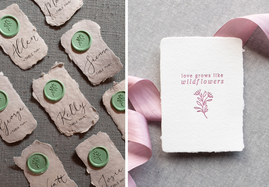 wildflower wedding invitation ideas
