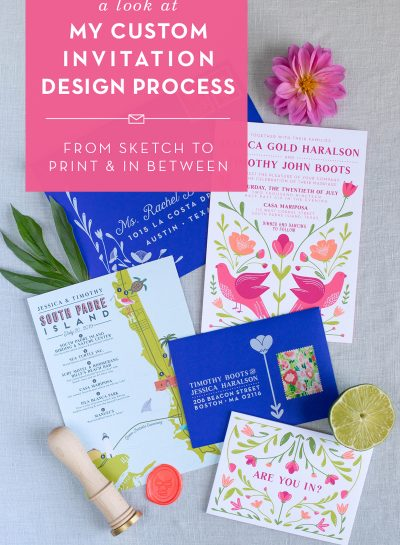 Custom Wedding Invitation Design Process