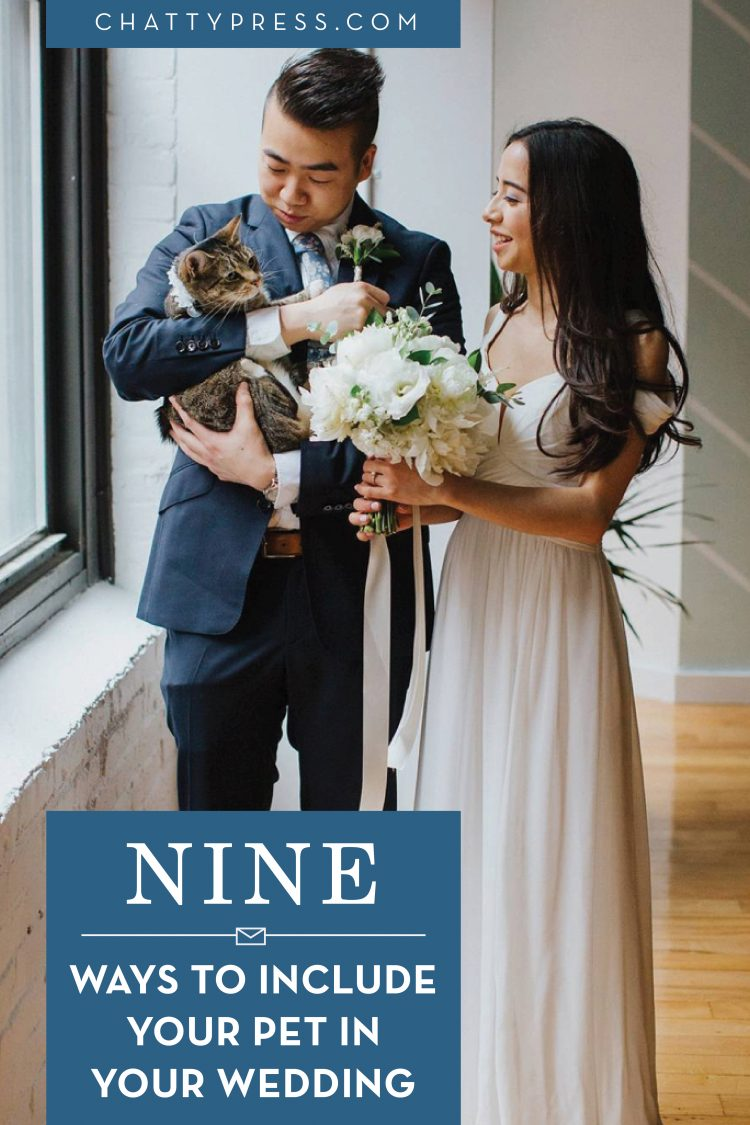 nine ways to include pets in your wedding day even when they can't be there!